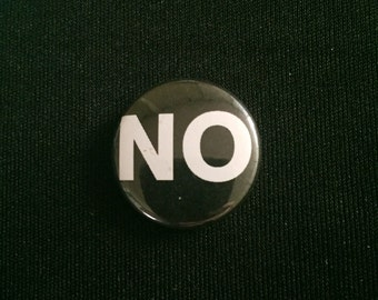 "Handmade NO 1"" Button lapel pin"