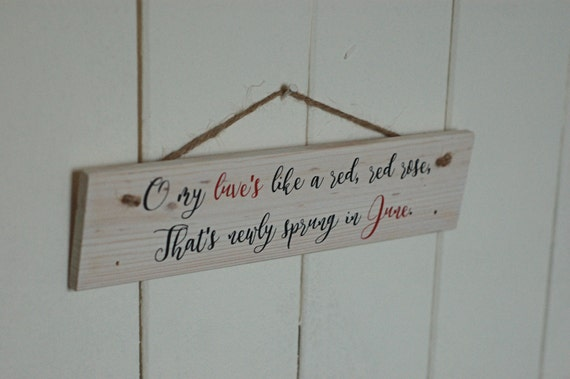 Romantic Wooden Signs Wedding Sign Wedding Gift My Love Is