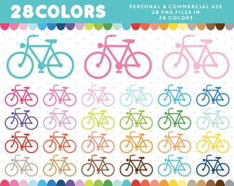 Bicycle clipart, Bike clipart, Bycycle clip art, Bike clip art, Bicycle icon, Bike icon, Commercial License, CL-466