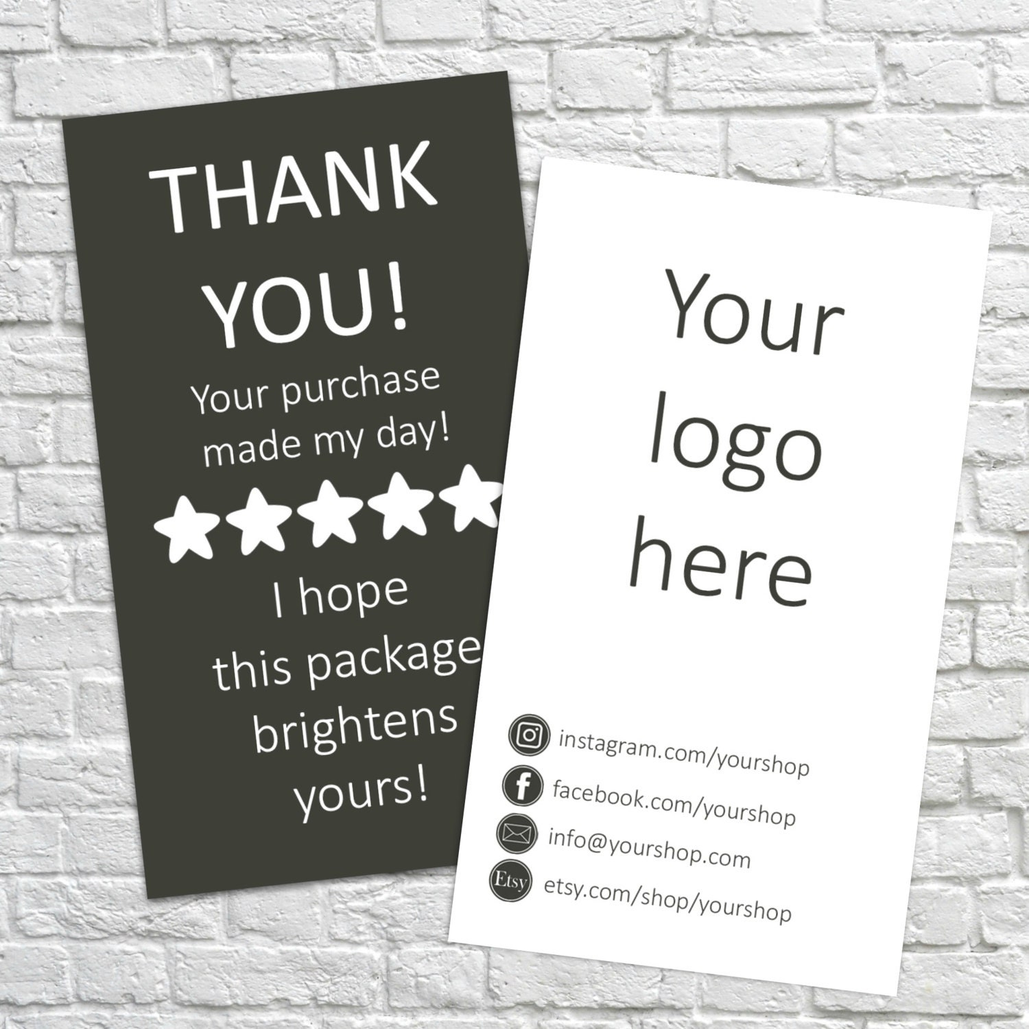 printable thank you business cards thank you cards thank you