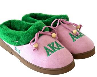 AKA Sorority Polar Fleece Slippers MEDIUM AKA134