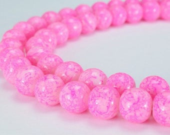 Two Tone Purple Pink Glass Beads Round 12mm Shine Round Beads For Jewelry Making Item#789222045753
