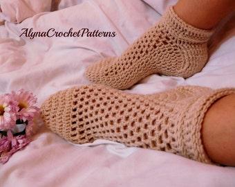 Crochet Pattern Socks - Crochet Socks Pattern, Instant download, Women Sizes Crochet Socks,Teen Size