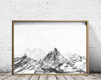 Mountain Art Wall Art Prints Mountain Print