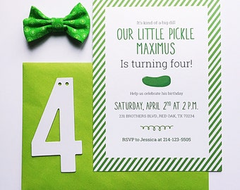 Pickle Baby Shower Invitation