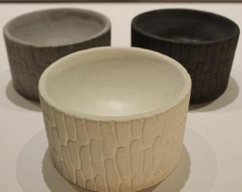 the Woodland - Concrete Bowl / Vessel / Planter / Handmade / Home Decor
