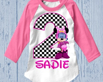 Minnie Mouse Roadster Racer Birthday Shirt - Minnie Roadster Racer Shirt - Tank Top Available3