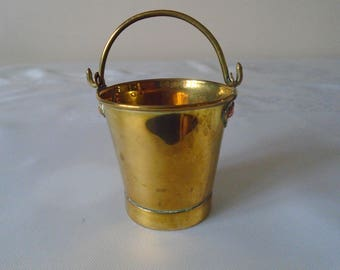miniature brass bucket/pail
