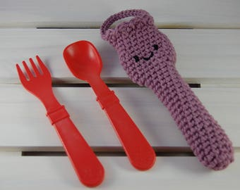 Baby Fork & Spoon Cotton Case (Ready to Ship)