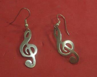 H-8 Vintage Earrings  sterling  silver