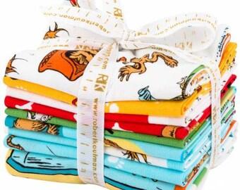 Adventure Dr. Seuss What Pet Should I Get?  9 Pieces, Robert Kaufman, Fat Quarter Bundle, Precut Fabric Quilt Fabric, Cotton Fabric, Novelty