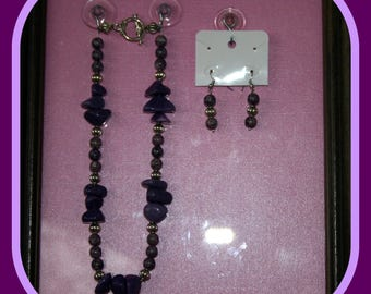 Shades of Purple Necklace/Earrings