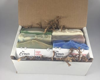 Relaxation Gift Set   6 Soap Gift Box, Variety Soap Gift, Handmade Soap Set, Homemade Soap Set, Best Gifts for Dad, Bath and Body Gift Set