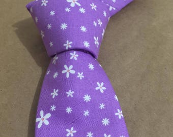 Handmade tie and handkerchief.