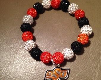 Oklahoma State University bracelet