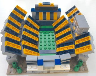 Mini WVU Mountaineers Milan Puskar Stadium Custom Brick Set with Printed Instructions