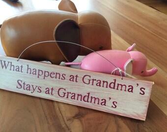 Gifts for grandma etsy gifts for grandma nan nannan or nanny what happens at grandmas stays at negle Gallery