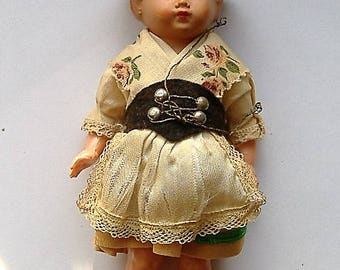 ART DECO 1940S CELLULOID doll costume smallish