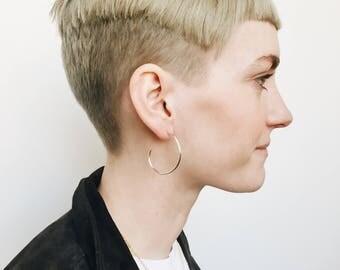 Sterling Silver or Brass Hoops, Hoop Earrings