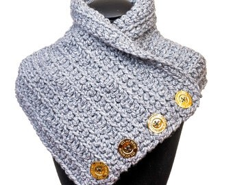 Womens Handmade Crochet Scarf/Cowl