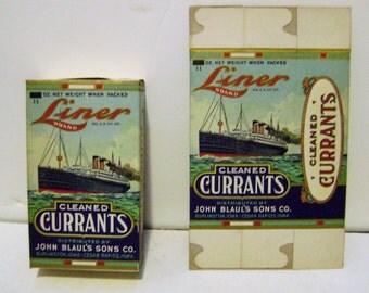 Vintage Liner Brand Currants Box