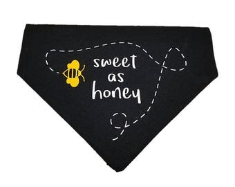 Sweet as Honey bumblebee reversible dog bandana