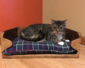 Cat Bed, Wooden Cat Bed, Wood Cat Bed, Feline Bed, Wine Crate Pet Bed, Wine Crate, Wine, Kitty Bed, Wooden Kitty Bed, Wood Kitty Bed