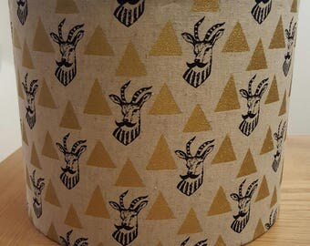 Gold Impala Deer with Moustache Hipster Lampshade