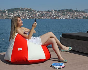 Outdoor bean bag chair cover, lounge chair, patio chair, lazy bag, waterproof fabric (NO beans filling)
