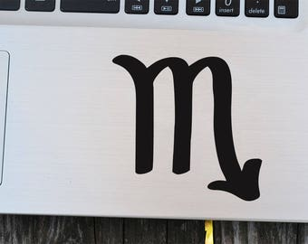 Scorpio Zodiac Decal,Star Sign Decal,Scorpio Sticker,Zodiac Laptop Decal,Astrological Zodiac Sign ,Birthday Laptop Decal,Horoscope decal