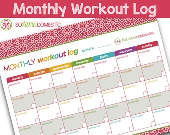 monthly workout log