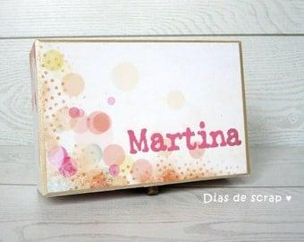 Keepsake box - Secret Things - Gifts for friends - Wooden Keepsake Box - Personalised Keepsake Box - custom box - Girls keepsake box