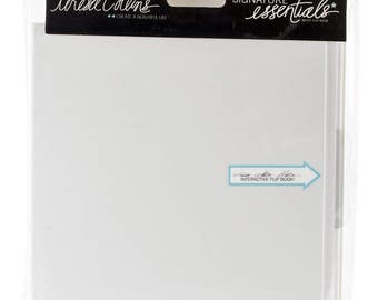 "Teresa Collins Signature Essentials Flip Book 5.9""X5.5""-White"