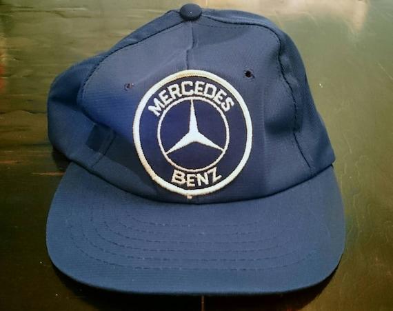 Vintage 1980s navy blue mercedes benz snapback hat for Mercedes benz snapback