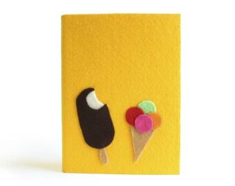 Pocket Plain Notebook, Felt Notebook Cover, Felt Sketchbook, Original Gift