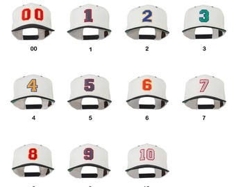 Numbers  Embroidered Classic Two Tone Snapback Cap