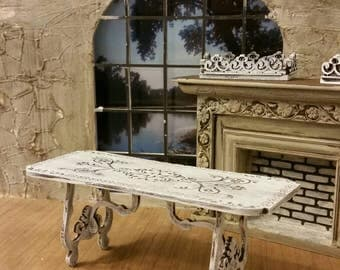 Mininture Dining table with lovely french styling comes unfinished or Stained Chocolate Dreams