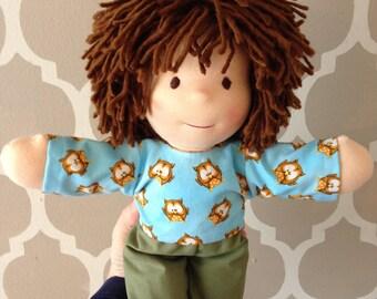 """Waldorfdoll Waldorf Cloth Doll Handmade 14"""" Boy """"Benni"""""""