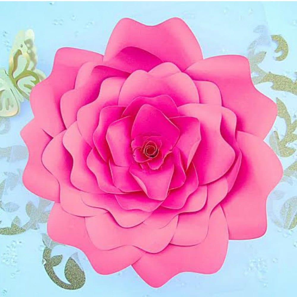 cricut giant flowers instructions