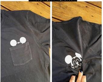 Mickey Flipping the Bird inside pocket