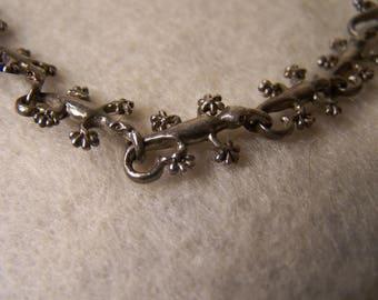 Sterling Silver .925 Vintage Gecko Bracelet