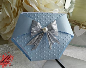 Cute Nappy Diaper Baby Shower Invitations, Christening Invitations, different colours available