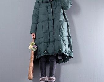 Women winter coat loose coat thicker jacket with hodded coats