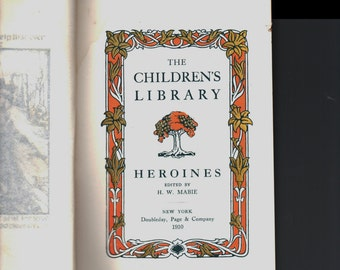 "sale c1910 Antique Childrens Book "" The Childrens Library "" Doubleday H/C"