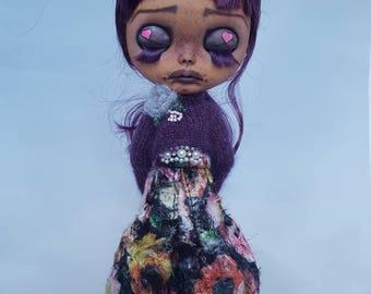 Rose Sweater & Skirt Set for Blythe