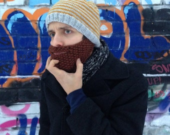 Obey The Beard Beanie PDF a set of INSTRUCTIONS to knit the beard beanie Digital Download