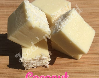 Coconut fudge pieces - chocolate food sweet treat gift