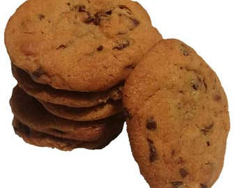 Chocolate chip, cookies, homemade food, edible gifts, cookie basket, baked goods, chocolate lover, artisan cookies, gourmet food, food gift