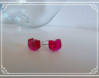 Earrings red cat