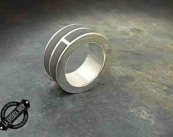 Ring in Silver 925 and concrete